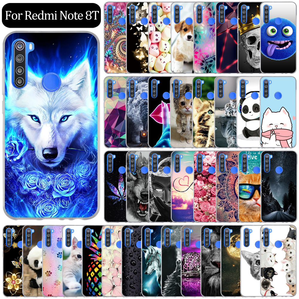 "Cover For Xiaomi Redmi Note 8T Case Silicone Cute Cartoon Soft TPU Phone Cover For Redmi Note 8 T Note8t Back Cover Fundas 6.3"" 1"