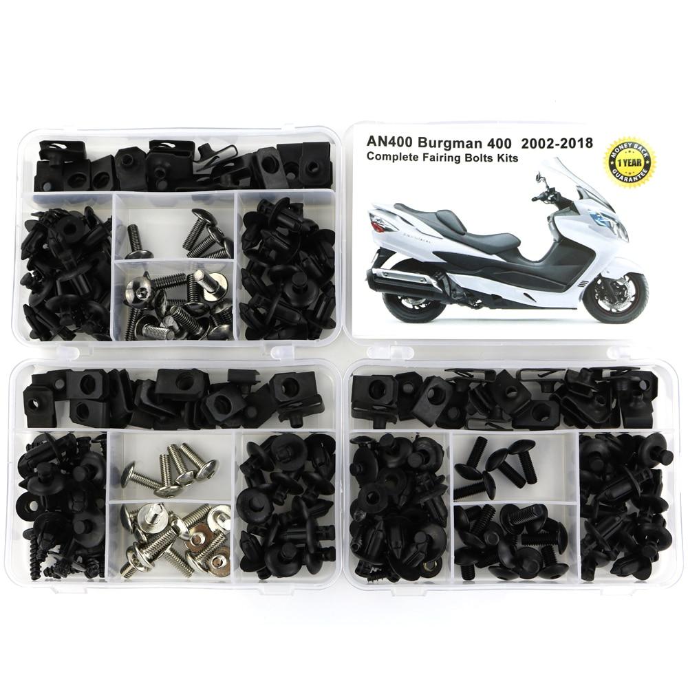 Для Suzuki AN400 Burgman 400 2002- мотоцикл Полный Обтекатель Болты комплект обтекателей зажимы гайки OEM стиль корпуса Винты сталь