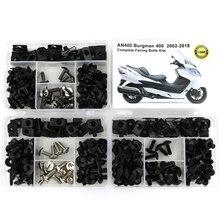 Fit Voor Suzuki AN400 Burgman 400 2002 2018 Motorcycle Compleet Volledige Kuip Bouten Kit Kuip Clips Noten Body Schroeven staal