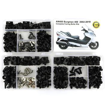 For Suzuki AN400 Burgman 400 2002-2018 Motorcycle Complete Full Fairing Bolts Kit Fairing Clips Nuts Body Screws Steel