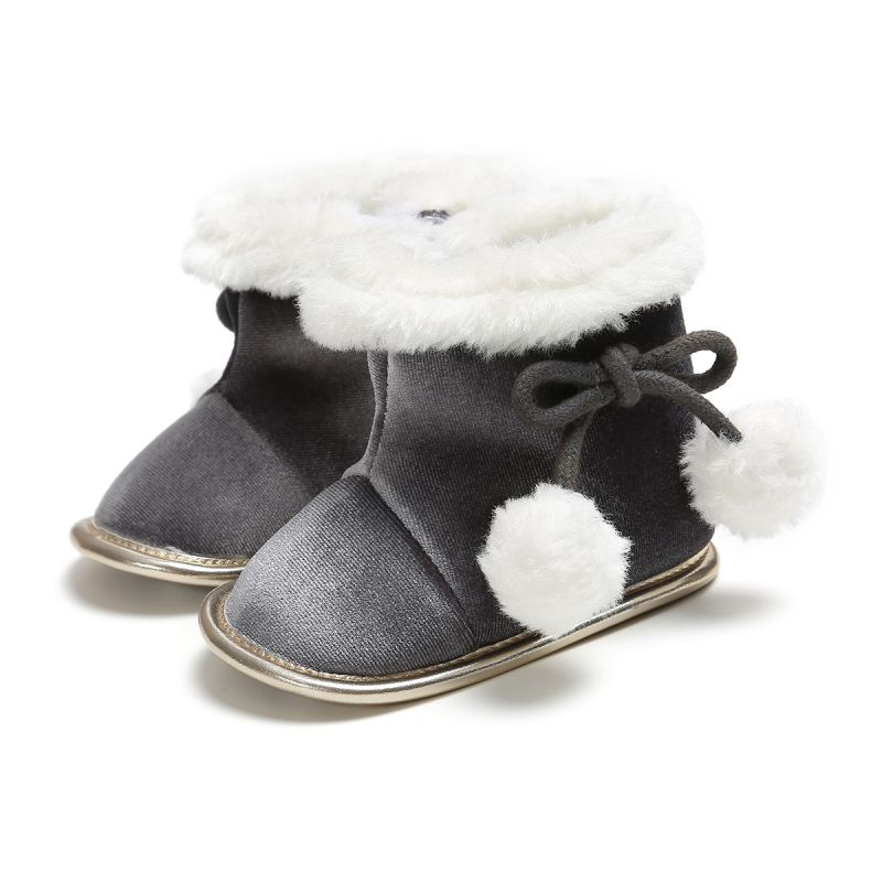Winter Warm Plush Shoes Baby Girls Snow Boots Flat With Baby Toddler Shoes Outdoor Snow Boots Girls Baby Kids Shoes
