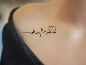 Waterproof Temporary Tattoo Sticker of body Love wave tattoo small size tatto stickers flash tatoo fake tattoos for girl women