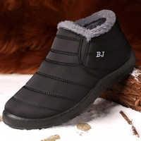 Os Homens de Sapatos de inverno Para Homens Botas de Pele Grossa Quentes Ankle Boots Homens Calçado Botas de Neve Impermeável Botas Hombre Sapatos de Inverno unisex