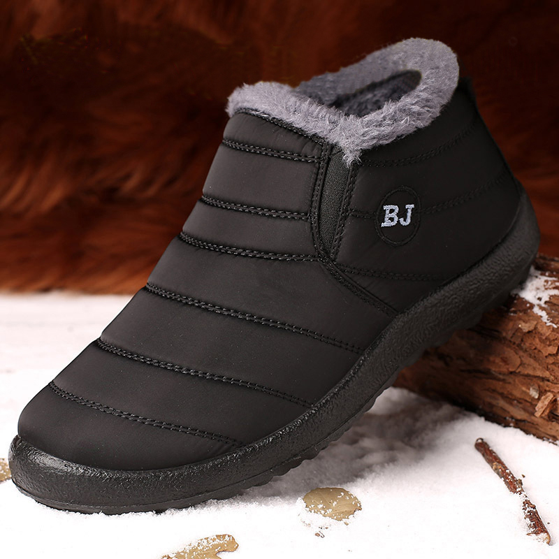 Winter Men'S Shoes For Men Boots Thick Fur Warm Ankle Boots Men Footwear Waterproof Snow Boots Botas Hombre Winter Shoes Unisex