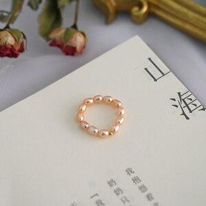 Image 5 - Ashiqi Mode 3 4Mm Mini Kleine Natuurlijke Zoetwater Parel Paar Ringen Voor Vrouwen Echt 925 Sterling Zilveren Sieraden voor Vrouwen Gift
