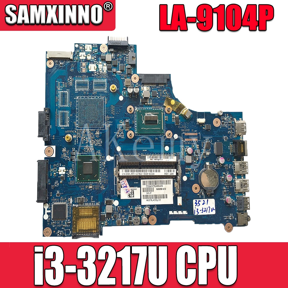 VAW11 LA-9104P For DELL Inspiron 15 3521 5521 Laptop Motherboard CN-00FTK8 LA-9104P SR0XF I3-3217CPU original(China)