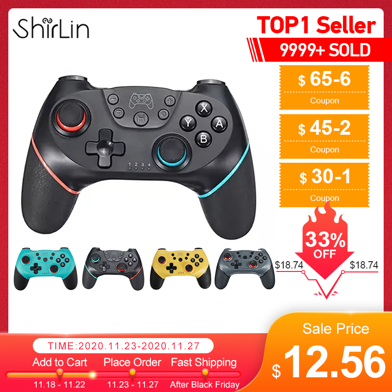 Gamepad Switch-Console Control Video-Game Bluetooth-Pro for Wireless USB