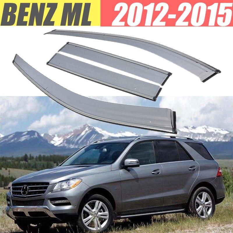 For Benz ML 320 350 400 550 W166 W164 /Rain Guard/Guard Smoke Window Rain Window Wind Visor 4Pcs/1 Set 2012-2015