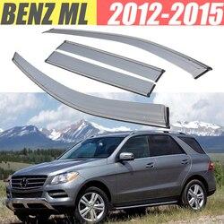 Para Benz ML 320 350 400 550 W166 W164/protector de lluvia/protector de humo Ventana de lluvia Ventana de viento Visor 4 uds/1 Set 2012-2015