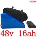 Бесплатный Таможенный налог 48 В 15AH литиевая батарея 48 В 15AH электрическая велосипедная батарея 48V750W 1000 Вт аккумулятора электроскутера с заря...