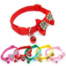 """1 шт., карамельный цвет, регулируемый галстук-бабочка, колокольчик, распродажа, ошейник """"галстук-бабочка"""", щенок, котенок, собака, кошка, домашнее животное"""