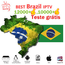IPTV Brazil Subscription Portuguese Smart Brasil for TV Box Android 10 M3U tv smarters pro