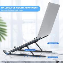 Suporte de alumínio dobrável universal leve do suporte do computador portátil da tabuleta do portátil ajustável para todos os 10 devices-15.6 devices dispositivos