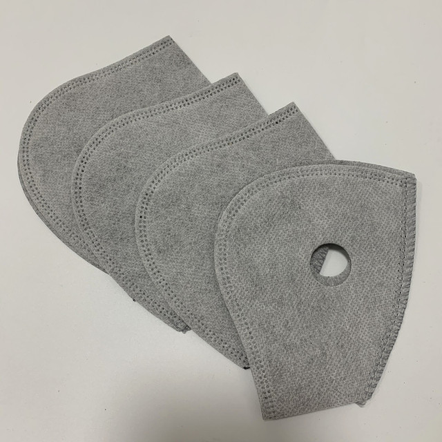 5 Layers Non Woven Half Face Mask Filter for Cycling Bike Mask Anti-pollution Dust Pm 2.5 Air Filter Activated Carbon Filters 5