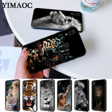 Lion tiger Fashion Lovely Animal Silicone Case for Redmi Note 4X 5 Pro 6 5A Prime 7 8