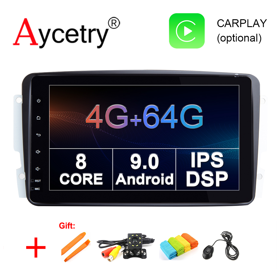 4G 64G Car Multimedia player Android 9 0 2 Din dvd GPS Autoradio For Mercedes Benz