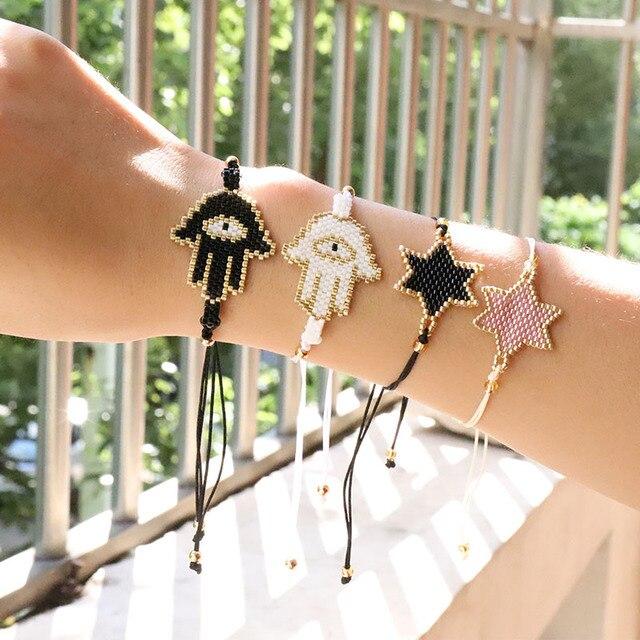 G. YCX pulseras turcas ojo de la suerte para hombres mujeres DIY cuentas de semillas de MIYUKI pulseras de la Amistad pulseras hechas a mano borla joyería regalos