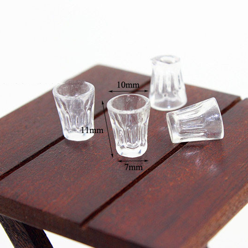 1pcs Dollhouse Miniature Accessories Mini Resin Cup Simulation Furniture Water Bottle Model Toys For Doll House Decoration
