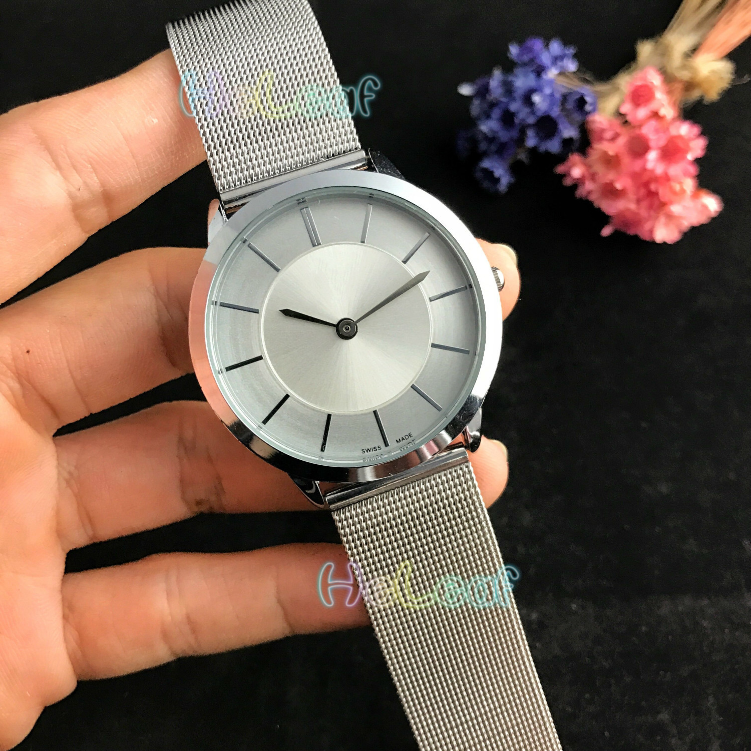 Fashion Silver Gold Stainless Men C Watch Quartz Wrist Watches BOY Famous Brand Male Clock Montre Femme Reloj