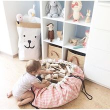 Creative design  Multi Func Portable Kids Toy Storage Bag Picnic Blanket Play Mat  Toys Organizer Box Practical Storage Bags