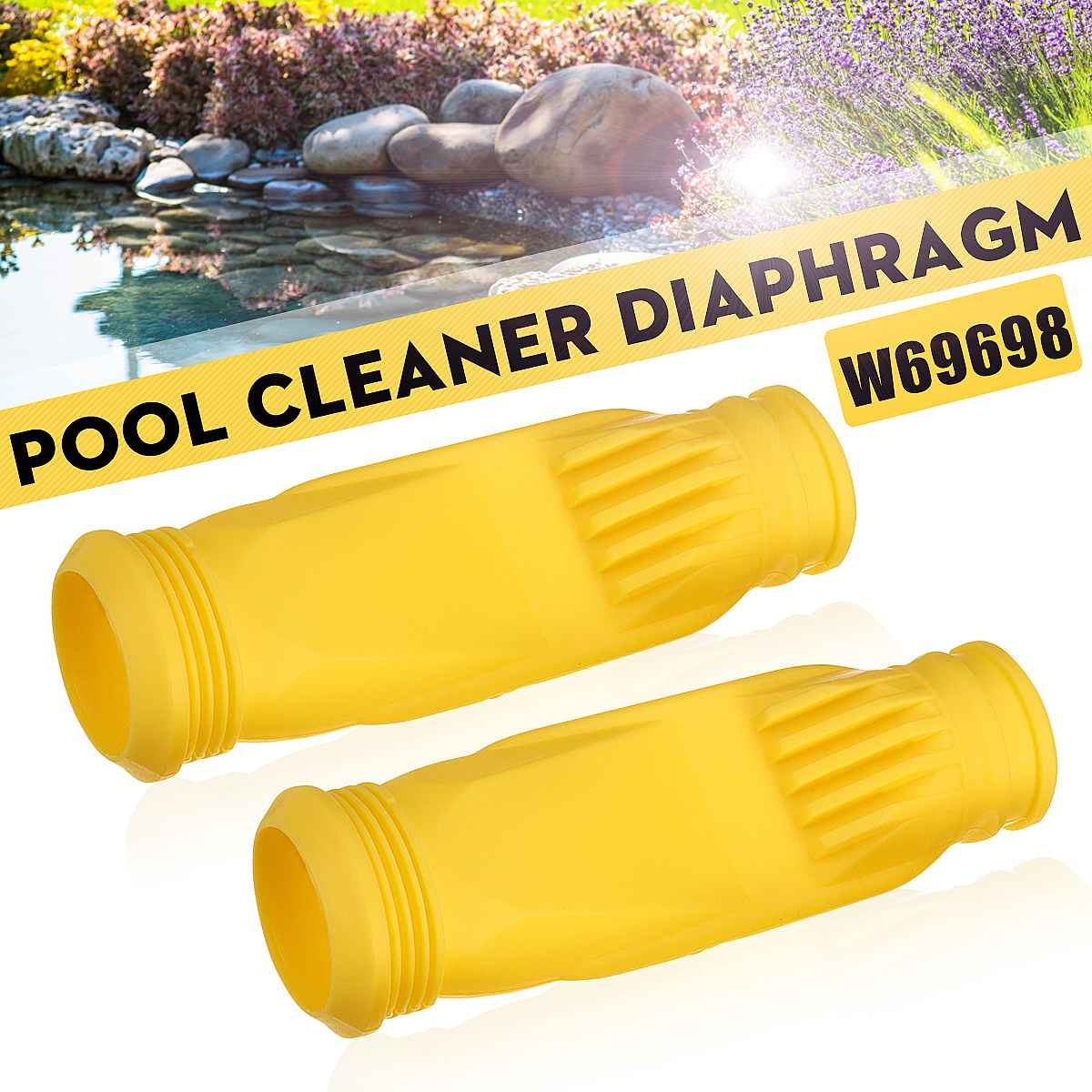 2X Swimming Pool Garden Pond Diaphragm Pool Cleaner Cleaning Replacement Part W69698 For Zodiac Baracuda G3 G4
