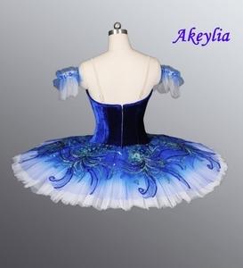 Image 2 - Azul real pássaro yagp profissional ballet competiton tutu saia feminina rosa clássico panqueca tutu traje vestido
