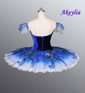 Image 2 - Real azul pájaro YAGP profesional Ballet Competiton tutú Falda Mujer Rosa clásico panqueque tutú vestido de disfraz