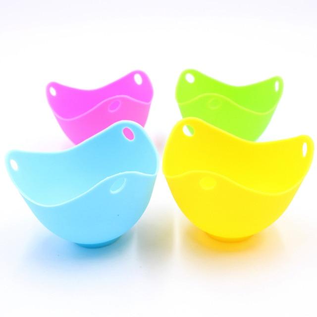 Cuiseur oeuf silicone multicolore.