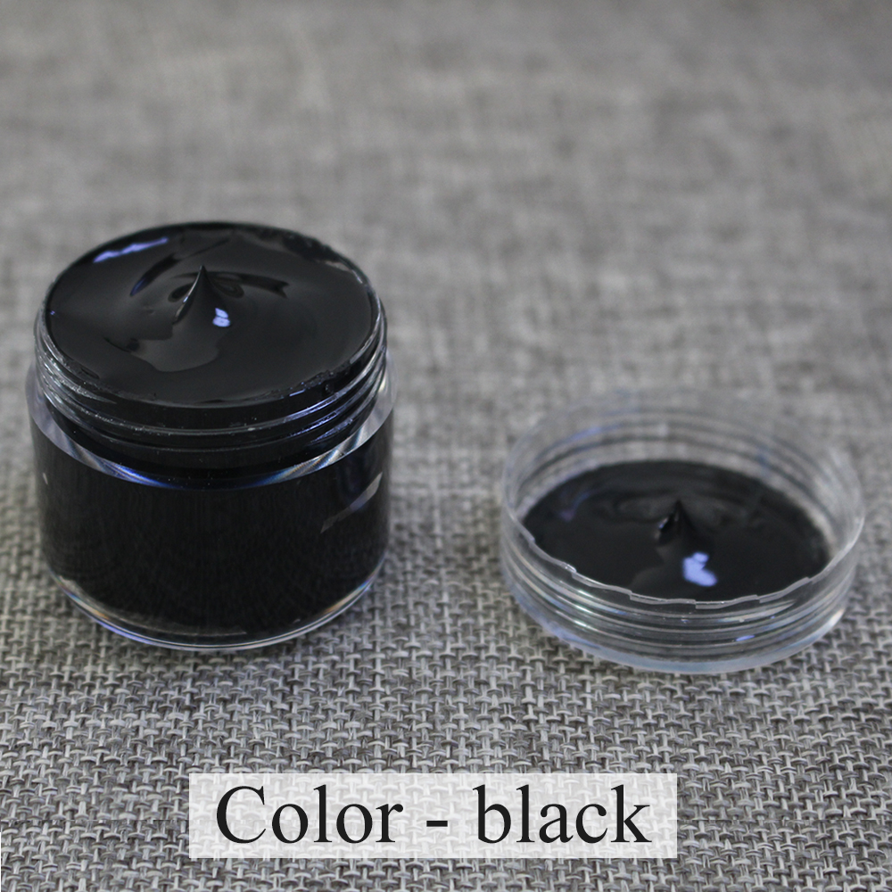 Leather Paint Shoe Cream For Leather Sofa Bag Clothing Repair Restoration Color Change Paint 30ml Black Leather Coloring Paste