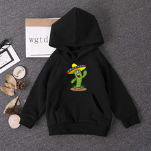 Spring Autumn Fashion Baby Clothes Infant Cartoon Cactus Blouse Kid Hoodies Tops Boys Girls Oversize Leisure Sport Hooded Hoodie spring autumn baby boys girls clothes toddler baby kids hooded cartoon 3d ear hoodie sweatshirt tops clothes infant clothing