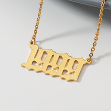 Personalized Year Number Necklaces For Women Custom 1992 1993 1994 1995 1996 1997 1998 1999 Birthday Gift From 1985 to 2019
