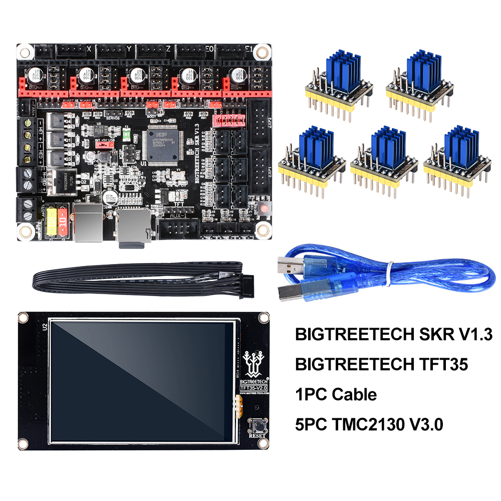 BIGTREETECH SKR V1.3 Smoothieboard 32Bit+TFT35 V2.0 Touch Screen+BLtouch+TMC2130 Spi TMC2208 UART 3D Printer Parts Vs MKS GEN L