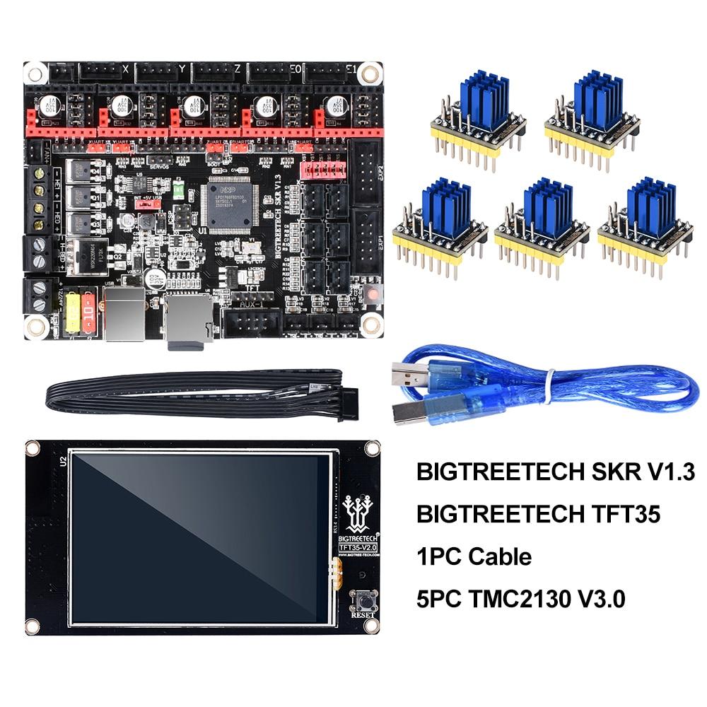BIGTREETECH SKR V1.3 сглаживающая плата 32 бит + TFT35 V2.0 сенсорный экран + BLtouch + TMC2130 spi TMC2208 UART 3d принтер запчасти vs MKS GEN L