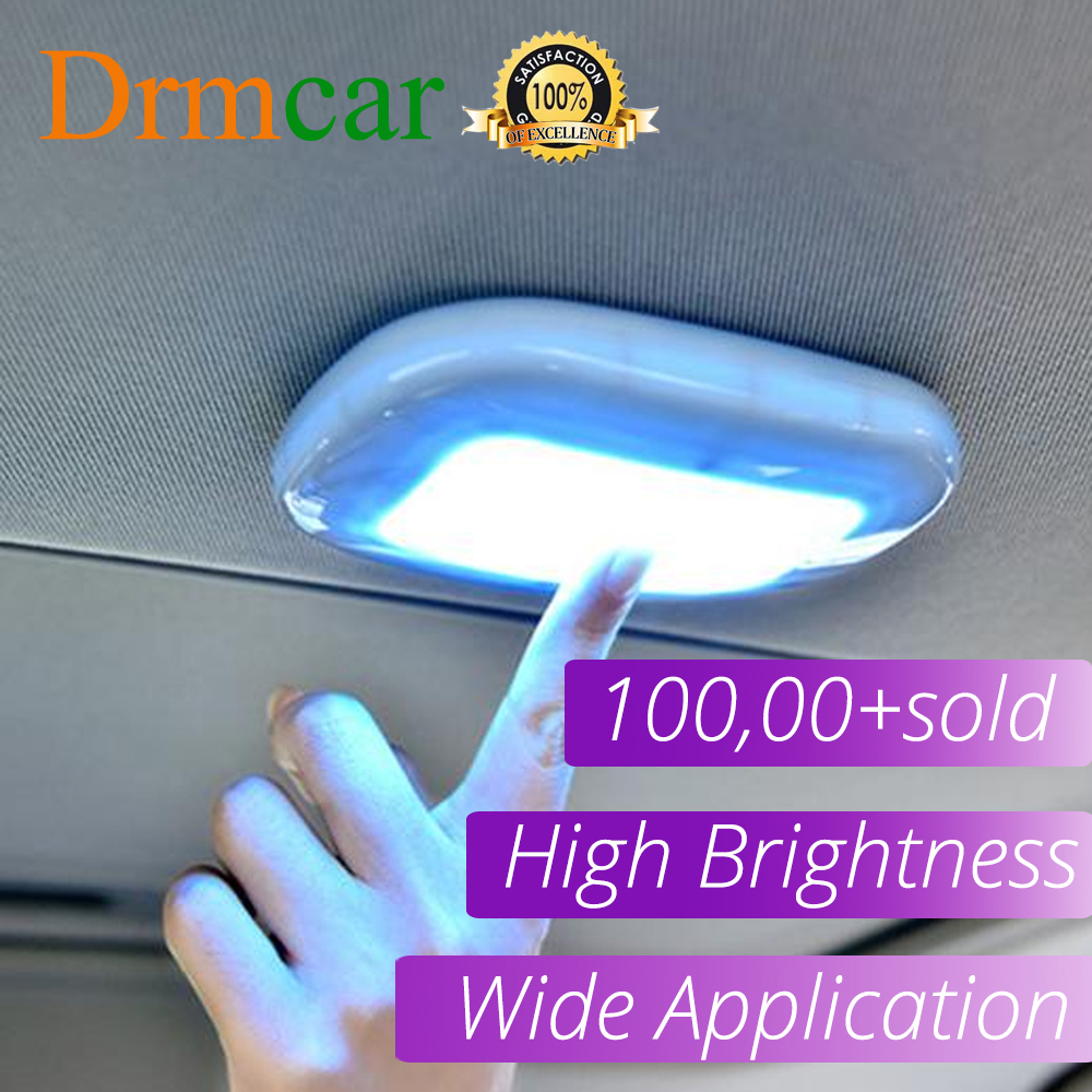 1pcs Touch Type Night Light Car Roof Ceiling Magnet Lamp Automobile Car Interior Reading Light Dome USB Charging Trunk Drl