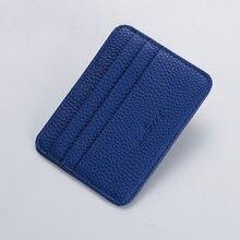 Mode Schlank Minimalistischen Brieftasche PU Leder Kreditkarte Halter Kurze Geldbörse Leder ID Karte Halter Candy Farbe Bank Multi Slot karte