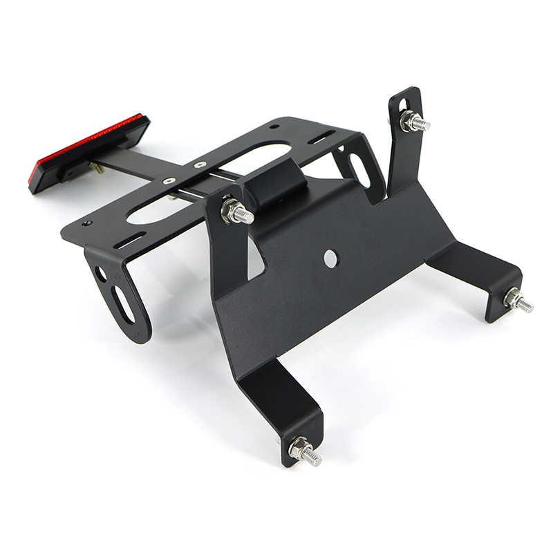 Portatarga moto For la Honda CB300R CB125R CB150R 2018 2019 2020 di coda posteriore del motociclo Tidy Fender Eliminator Portatarga kit di licenza Staffa nero Color : Black