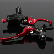 цена на CNC Folding Brake Lever ASV Clutch Lever With Front Pump Fit Motorcycle Dirt Bike Motocross Off Road CRF KLX YZF RMZ