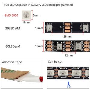 ТВ светодиодный светильник, полоса USB RGB 5V WS2812B, окружающий светильник, комплект для синхронизации, цвета экрана, HD TV, настольный ПК экран, фон...