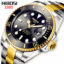 Nibosi 2021 Luxe Mannen Mechanische Horloge Roestvrij Staal Automatische Horloge Top Merk Saffierglas Mannen Horloges Reloj Hombre