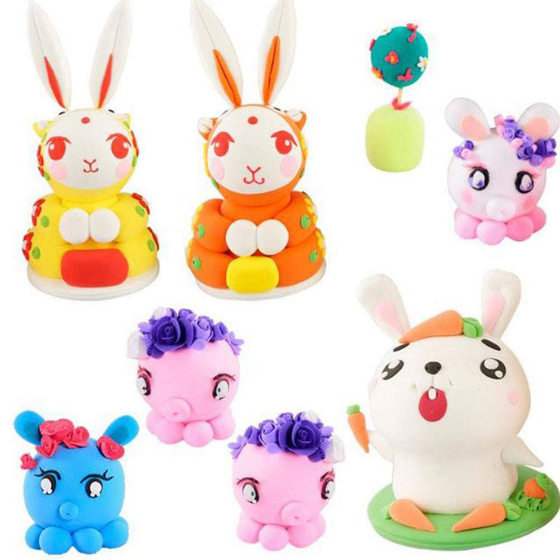 Polymer Clay Oven-Baking Birthday-Gift Light Craft Colorful Kids for Adult Safe DIY Soft-Molding