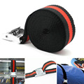 2.5m Car Bike Accessories Tow Motorcycle Heavy Duty Cargo Strap Strong Luggage Elastic Rope Trailer Belt Ratchet Tie Down Buckle|Tensioning Belts|   -