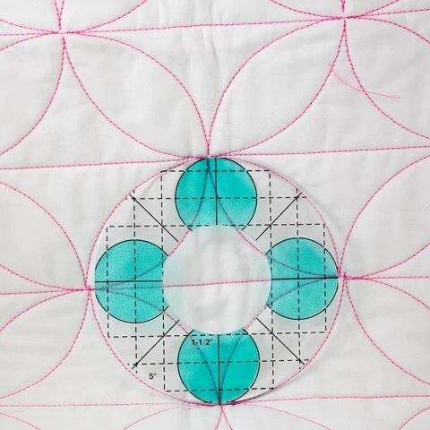 Movimento libero Quilting Essentials Modello di macchina da cucire quilting righello quilting modello patchwork righello quilter delle righello 3
