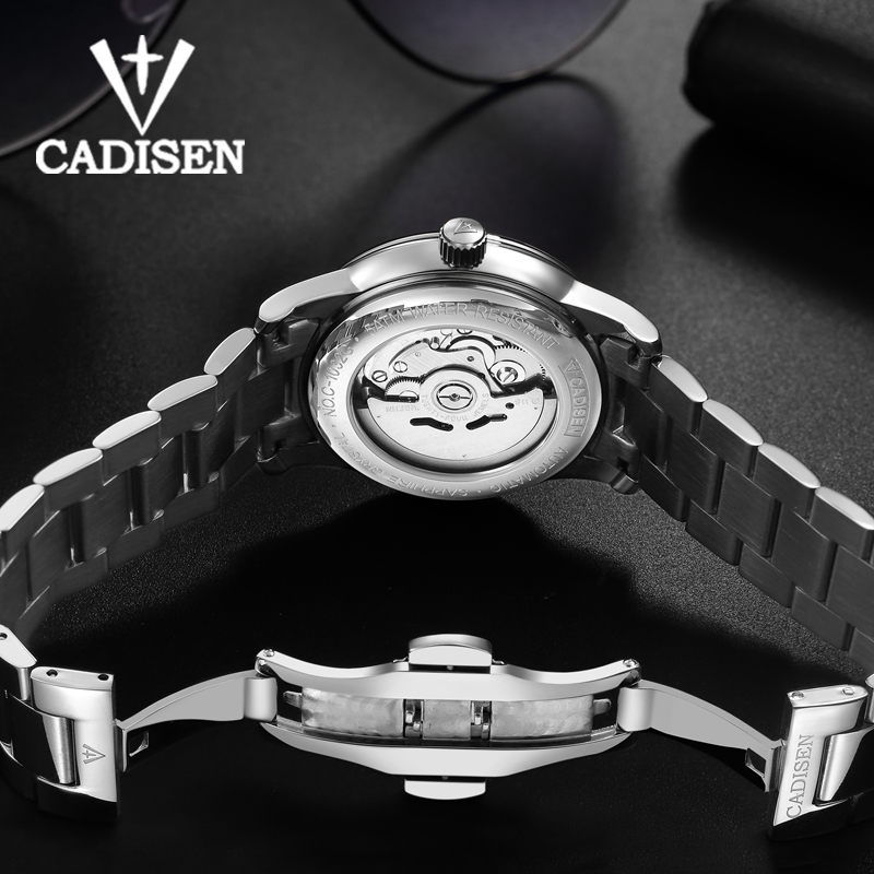 Mechanical Watch Men Mechanical Movement Automatic Self-wind Stainless Steel Sapphire 5ATM Waterproof Business Wristwatch Man