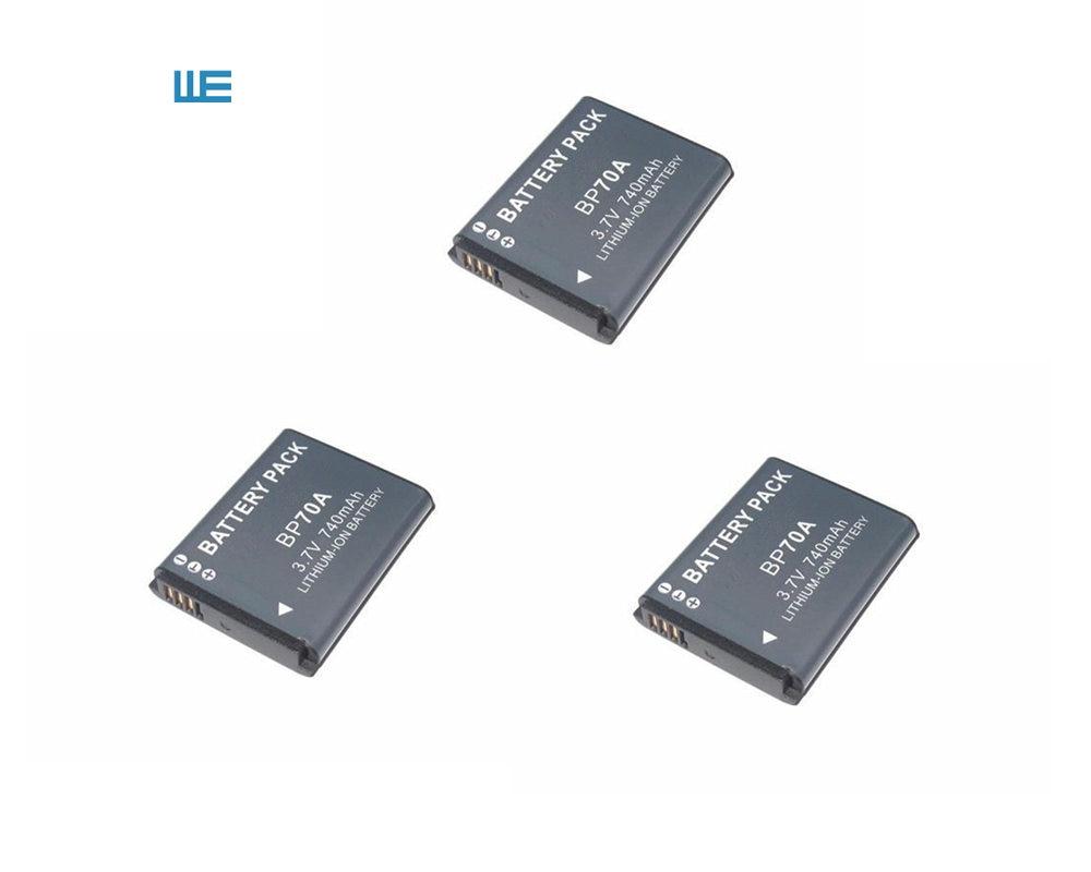 BP-70A EA-BP70A IA-BP70A BP70A IABP70A Батарея для SAMSUNG AQ100, DV150F, ES65, ES67, ES70, ES71, ES73, ES74, ES75, ES80 - Цвет: 3