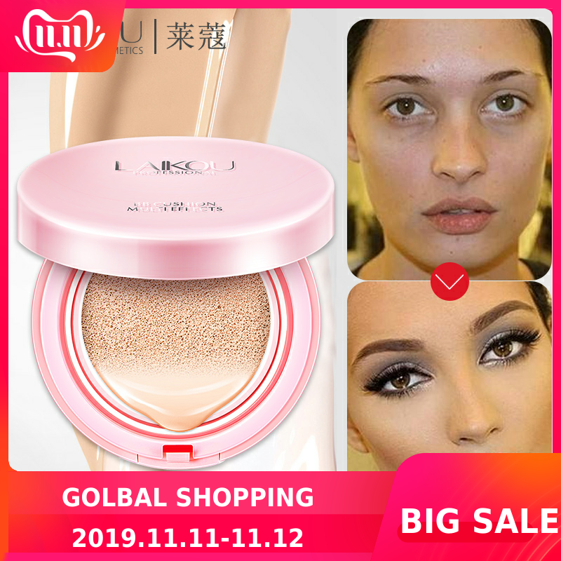 LAIKOU Air Cushion BB Cream Concealer Makeup Korean Cosmetics Bare Make Up Foundation Sunscreen Moisturizing CC Isolation