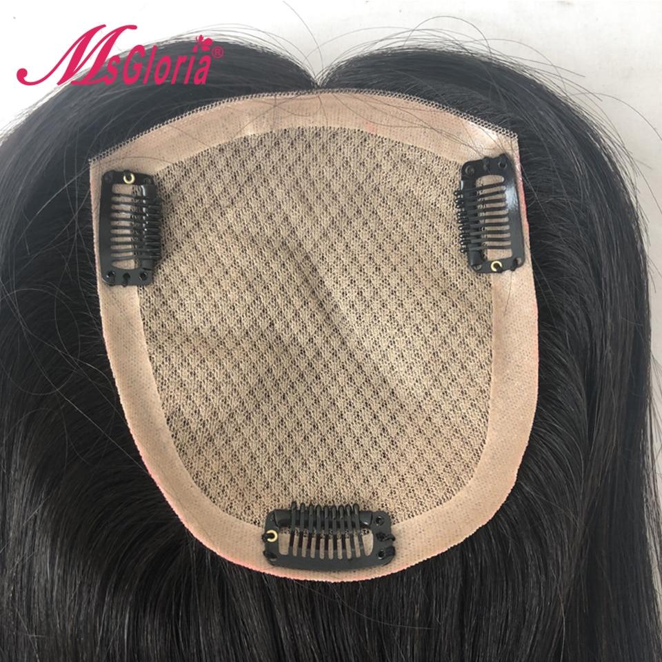 Toupet de cheveux humains pour femmes et hommes Base en soie taille 14*16 cm longueur de cheveux 6-16 pouces Remy système de remplacement de cheveux couleur naturelle