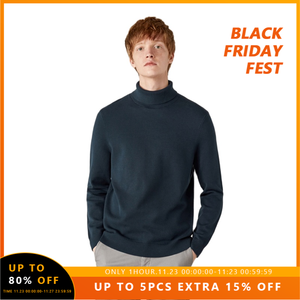 SEMIR High collar sweater men cotton turtleneck thick pullover sweater Korean 2020 cotton winter new black bottoming sweater