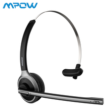 Mpow Truck Driver Bluetooth V4.1 Headset Wireless Over-Head Noise Canceling Headphones With Crystal Clear Mic for Cell Phone bingle fb110 new overear noise canceling white black blutooth head phone running wireless blue tooth audio headphones auricular