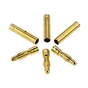 Image 5 - 10 คู่ 4mm GOLD Plated Bullet กล้วยปลั๊กคุณภาพสูงชายหญิง Bullet กล้วยชุดปลั๊กแบตเตอรี่