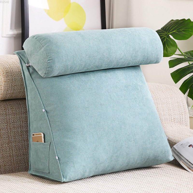 Bed Rest Reading Pillow Bed Sofa Office Chair Lounger Back Support Cushion